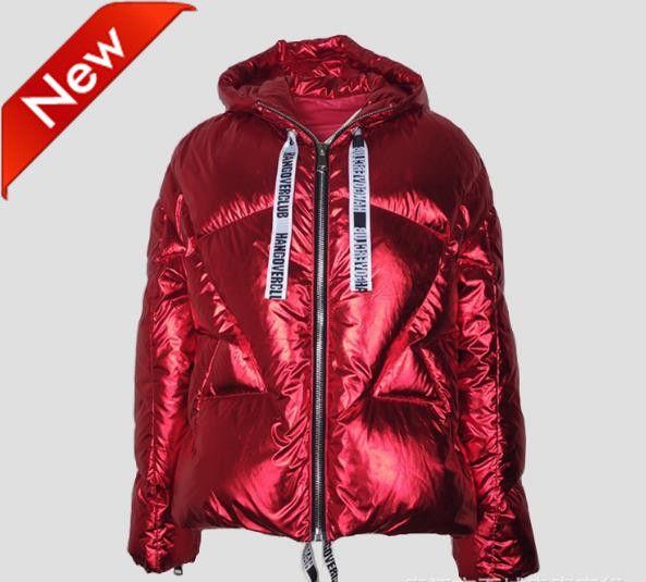 Veste en duvet épaisse pour femmes de la mode INS oversize d'hiver Coates en métal sauvage couleur 6 couleurs à choisir