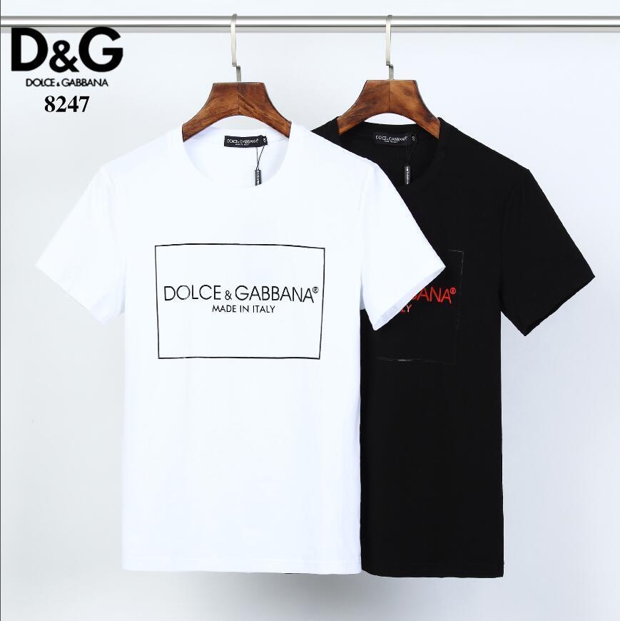 t-shirt T-shirt dos homens de O-Neck Casual masculina de luxo Verão Marca de manga curta Men Moda Roupa tee tamanho M-XXXL # 88