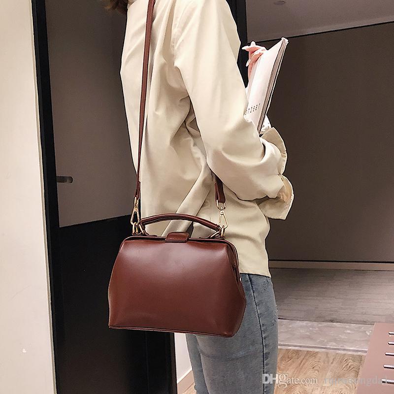 2019 new Doctor bag lady Fashion Shoulder bags handbag Cross body Purse Messenger Women Bags shuangzizuo/3