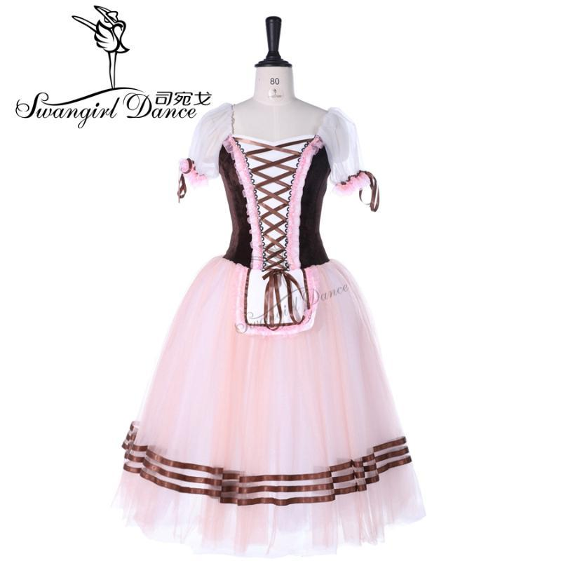Ücretsiz Kargo !! Kahverengi Giselle Balesi Tutu, pembe romantik bale tutu mavi uzun tutu mor klasik tutu BT8904