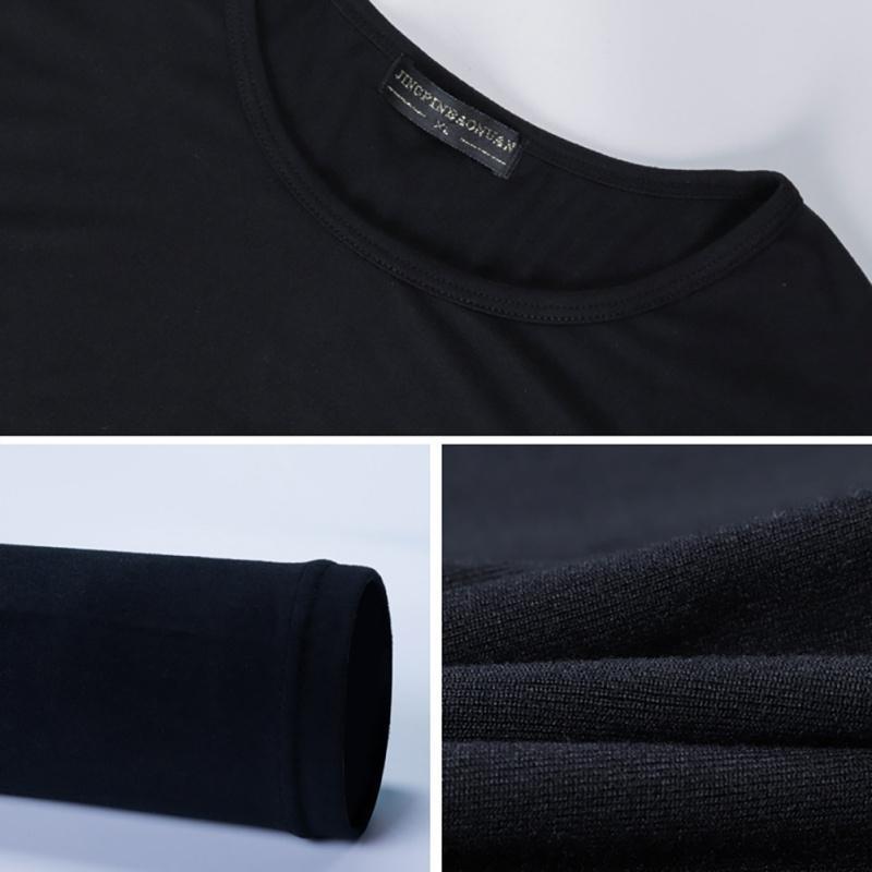 Simples Modal Underwear térmica Set Tops + Calças de Mulheres Homens Outono Inverno Shaping roupa do corpo contínuo roupa interior cor Soft: