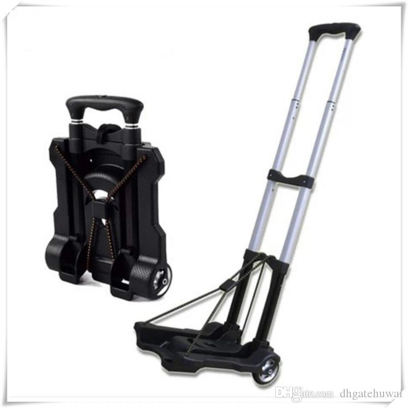 fc0807ec9436 Wholesale Portable Aluminium Folding Hand Truck Shopping Grocery Foldable  Cart Flatbed Dolly Luggage Trolley With Elastic String Best Compact ...