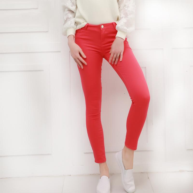 Women Designer Pants Women Pants Candy Jeans 2019 Spring Pencil Pants Slim Casual Stretch Trousers White Jean Pantalones Mujer Zipper Fly