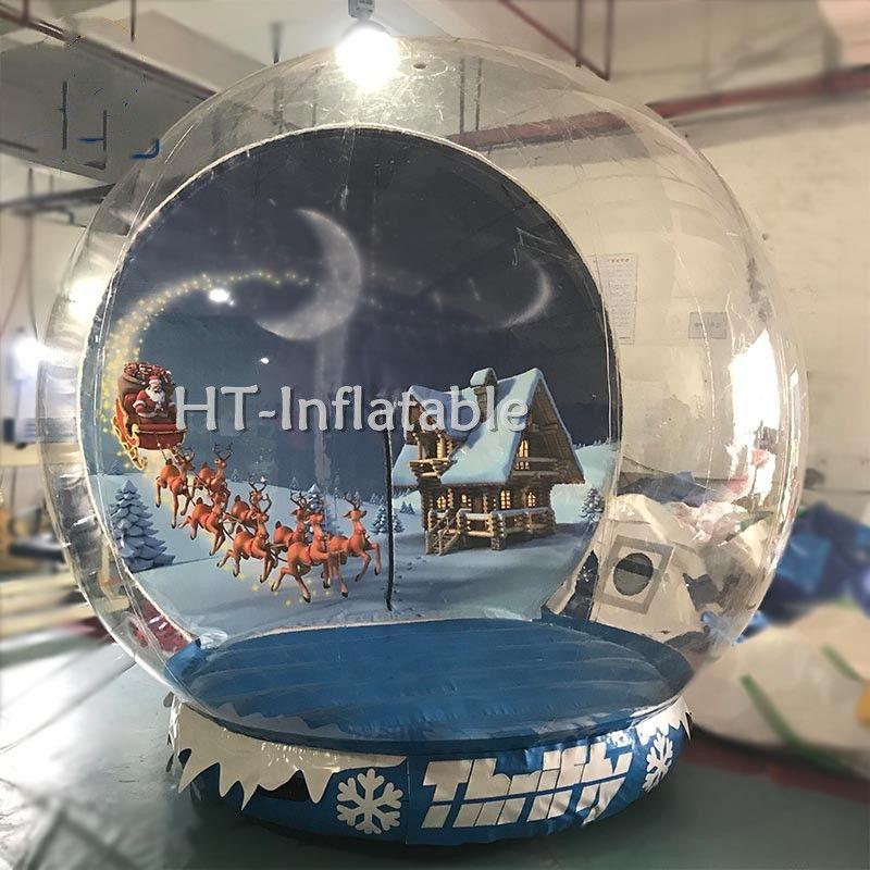 Freies Verschiffen 5m aufblasbare menschliche Größe Schnee-Kugel für Weihnachten im Freien Riesen Kristallkugel zum Verkauf