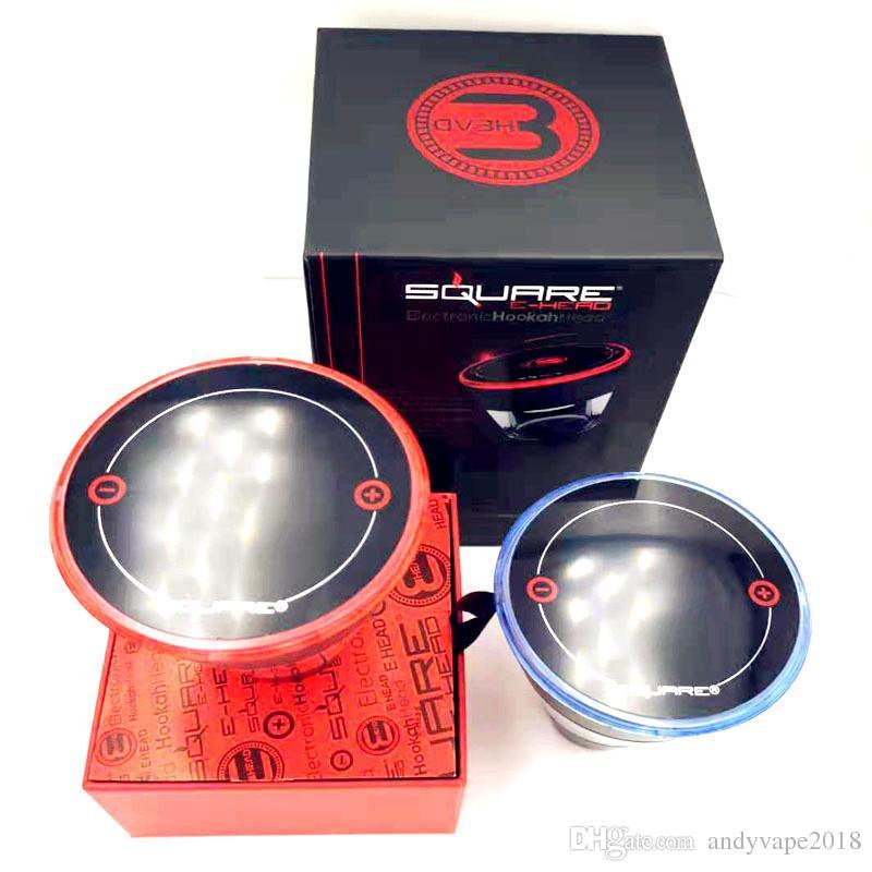 Square E Head Ehead 2400mAh Cartridge Refillable Disposable Hookah Rechargeable E-Head Vaporizer E Cigarette Kit DHL Free