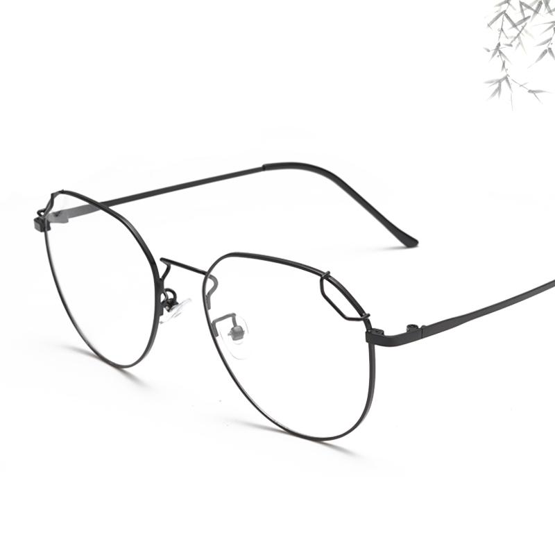 Yeni Poligon Metal Düz Ayna Öğrenci Ultra hafif Dekoratif Gözlük Çerçevesi