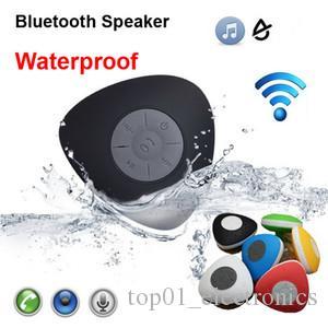 Newest Arrival Waterproof Mini Bluetooth Speaker Triangle Heart Shape Suction Cup Shower Car Bathroom Handsfree Call Portable Phone Speaker