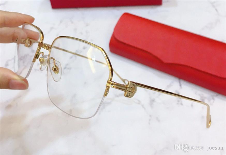 Nova designer de moda óculos ópticos k ouro meio quadro retro estilo moderno estilo 0114 unisex pode ser usado para óculos de prescrição