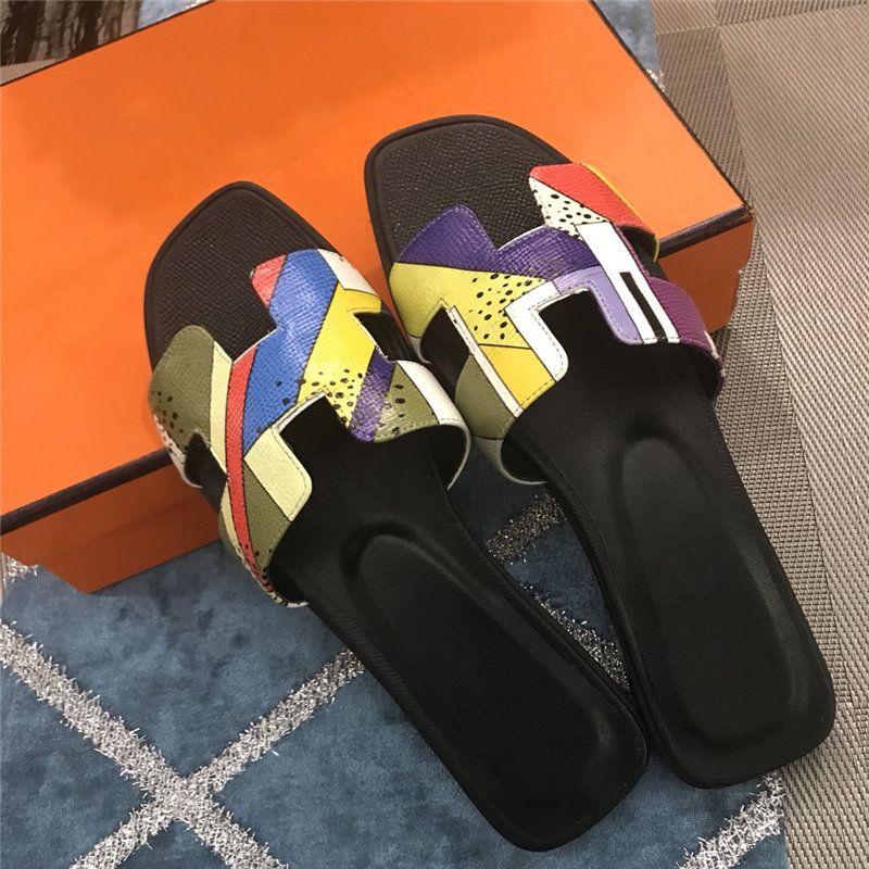 Designer de chinelos senhora verão 2019 designer de sapatos de luxo da marca de moda de luxo designer de sapatos femininos flats mulheres chinelos tamanho da caixa 40