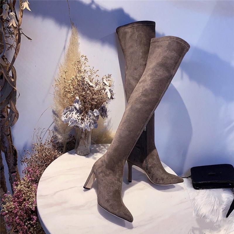 Vente nouveau Hot dames d'automne et d'hiver se succèdent sur les bottes du genou chaussures chaussures de marque de luxe confort de qualité supérieure étoiles sauvage