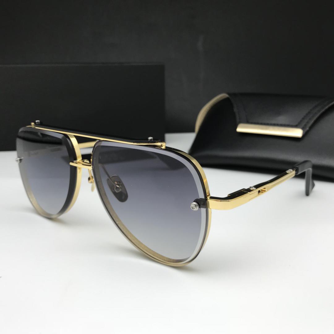 패션 여자 사이클링 안경 클래식 야외 스포츠 마하 여섯 선글라스 안경 소녀 해변 일 유리 케이스 상자 남성 금속 안경을 운전