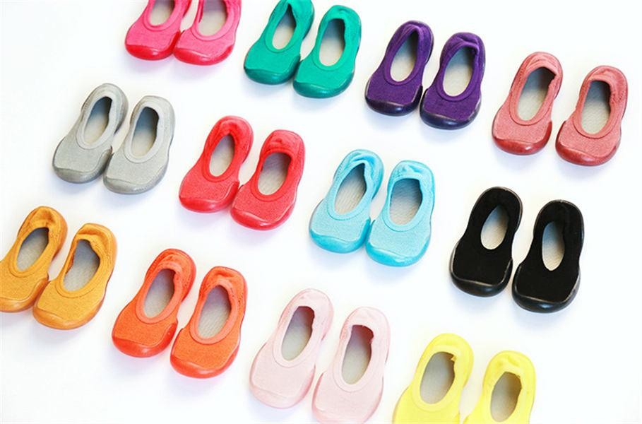 JH 2020 New Autumn And Winter Baby Walking Boat Socks Cotton Non Slip Soft Bottom Baby Socks Cute Children's Shoes