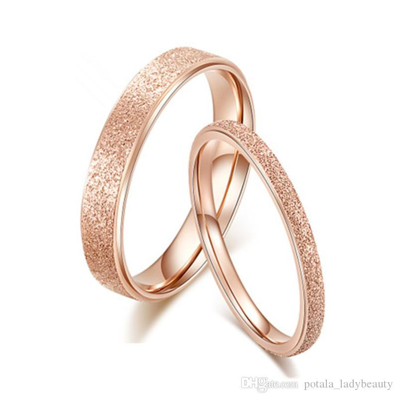 Couple Rings 18K Rose Gold Platinum Crystal I Love U All Day Women Men Forever Love Rings Stylish Sumptuous Jewelry Wedding Engagement