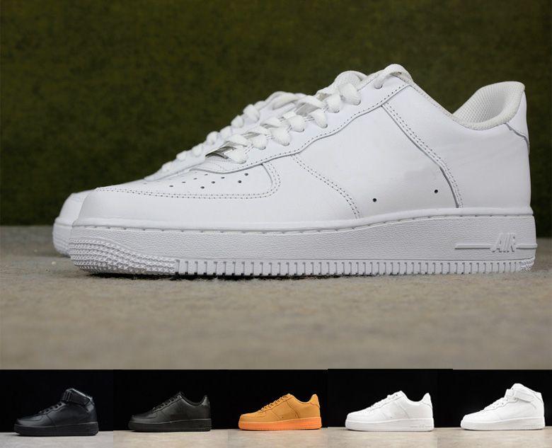 2020 High quality Forced Running Shoes for Men Triple Black White Designer Girls 1 Low High Cut women Sport Dunk one Skateboard Sneakers