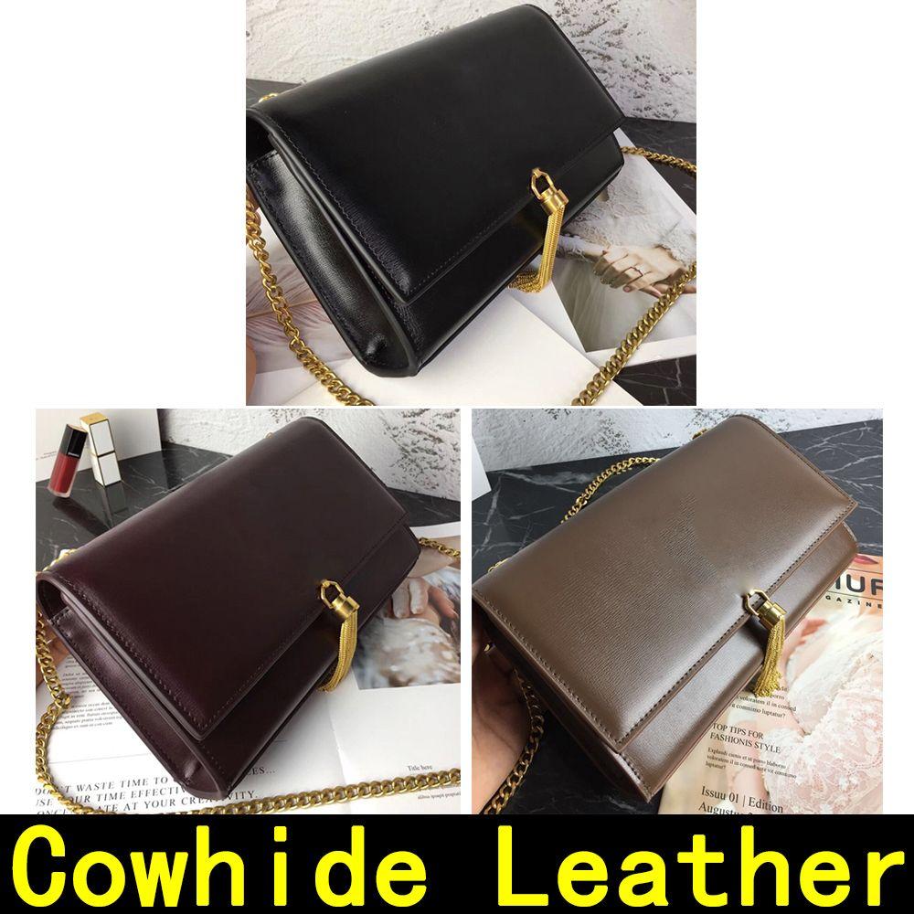 Con il sacchetto crossbody borsa tracolla classica tracolla in pelle originale retrò oro e moda catena in argento scatola di caviale borsa