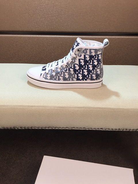 Dior shoes De haute qualité 1.1 dernières chaussures de toile en toile florale hommes de mode de haute qualité et des femmes chaussures bas-top toile occasionnels sandales
