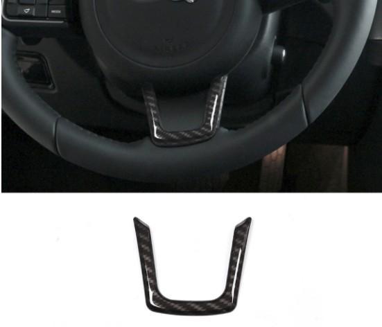Per Jaguar XE XF F-Pace F Pace X761 ABS In fibra di carbonio Stile Interni Volante Copertura Trim Car Styling Accessori