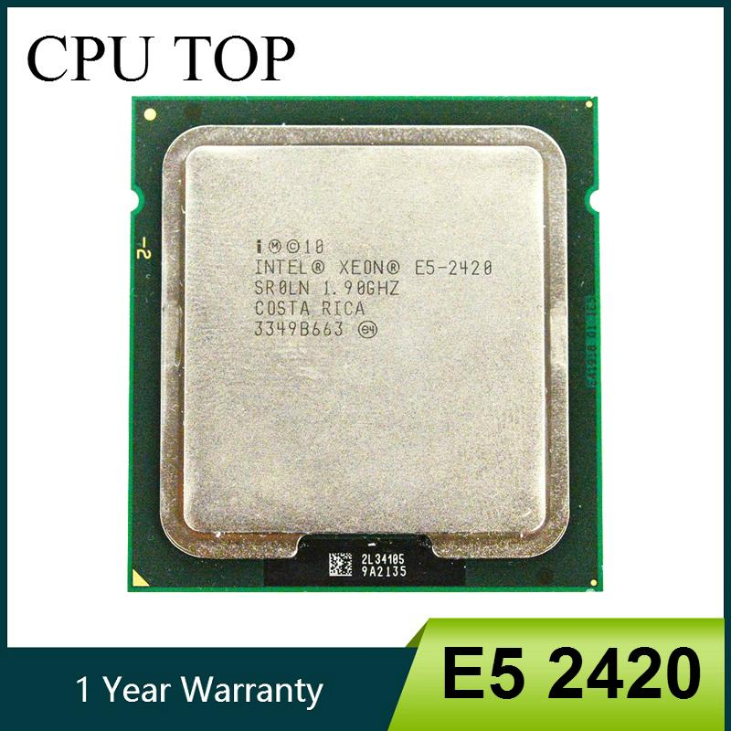 وحدات المعالجة المركزية CPU إنتل زيون E5 2420 SR0LN وحدة المعالجة المركزية 1.90GHz 6 النواة 15M LGA 1356 وحدات المعالجة المركزية E5-2420 معالج