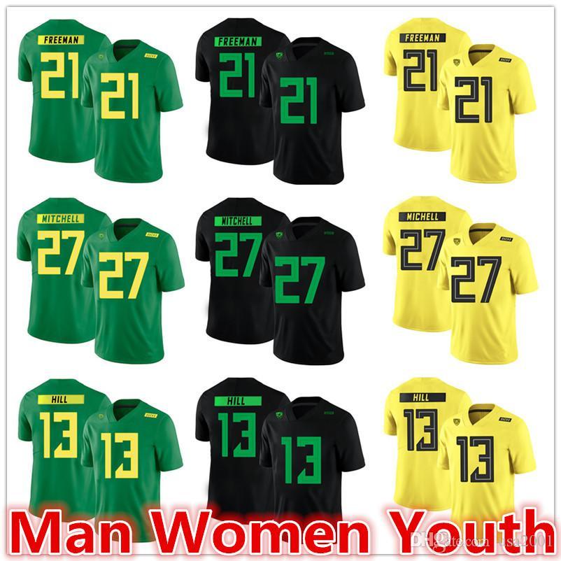 personaliza NCAA Oregon Ducks jerseys Royce Freeman 21 Terrance Mitchell 27 Troy Hill 13 jersey qualquer nome número de tamanho S-5XL