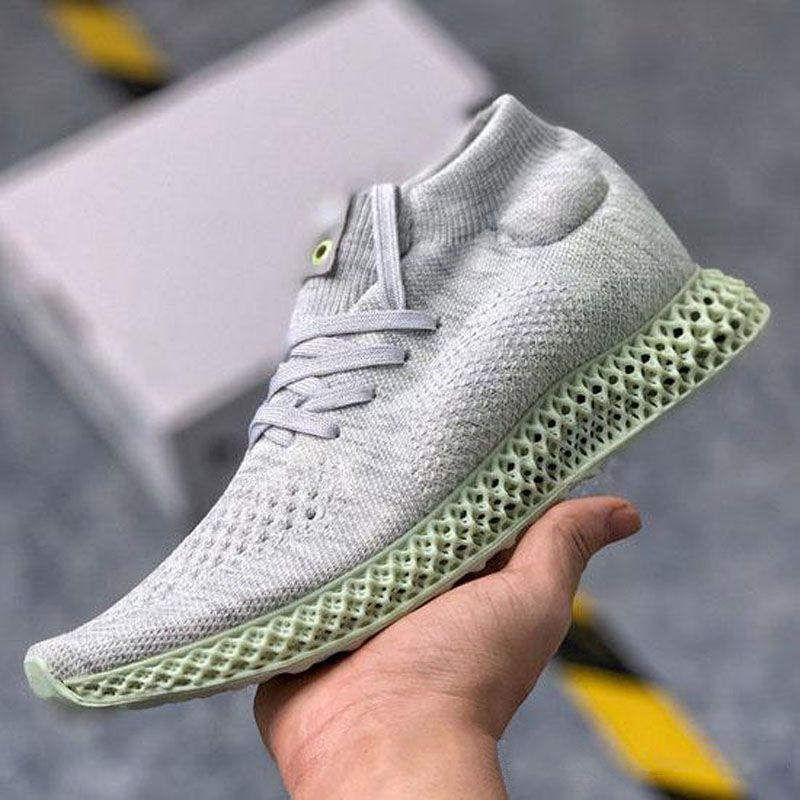 أعلى جودة KITH اتحاد 4D الاهل أسبن عداء 4D الرياضة أحذية منتصف الأبيض أحذية رياضية أحذية حجم 40-45