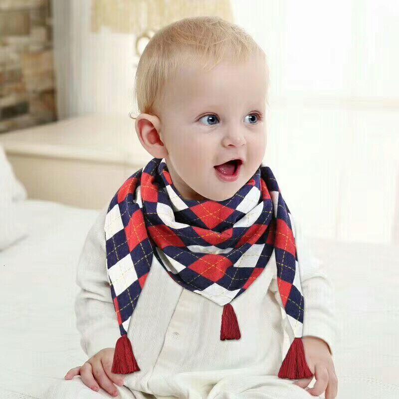 Cute Baby Bibs Cartoon Cotton Baby Feeding Apron Triangle Scarf Bib Collar Bib