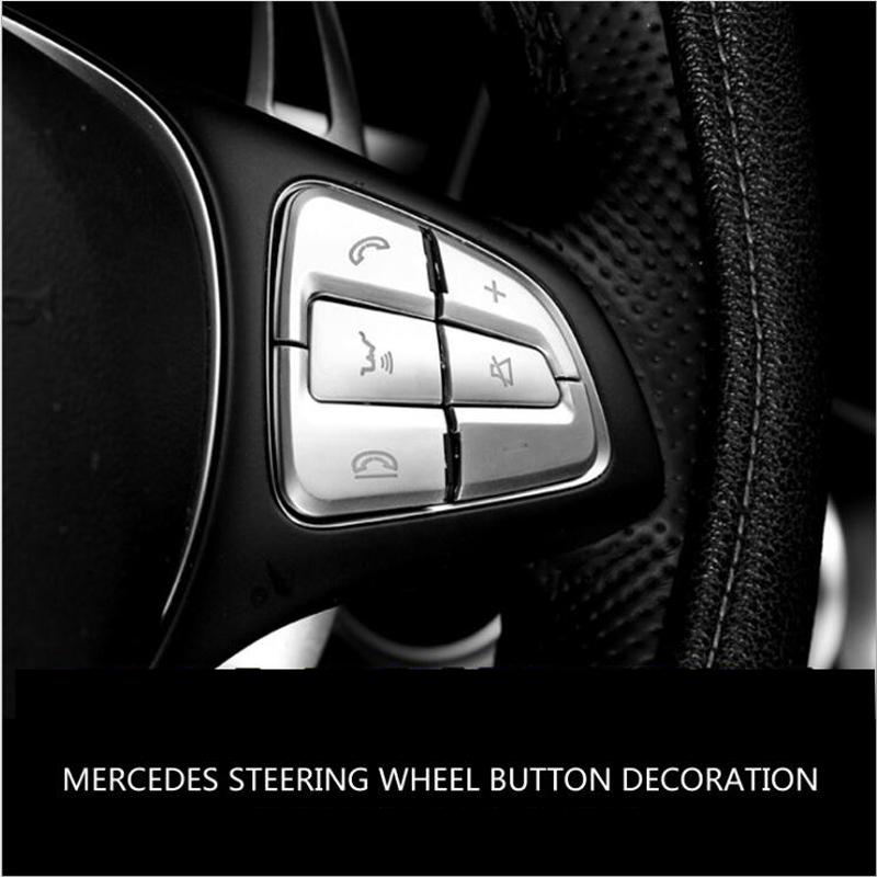 Mercedes Benz A B C D G sınıfı GLC CLA CLS gle GLS için Araç direksiyon Düğmesi Anahtarı topuzu Trim Kapak çıkartması