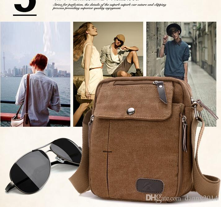 Multi-function traveling Bags vintage mens women shoulder pouch outdoor hiking cycling chest bag messenger canvas large capacity bags
