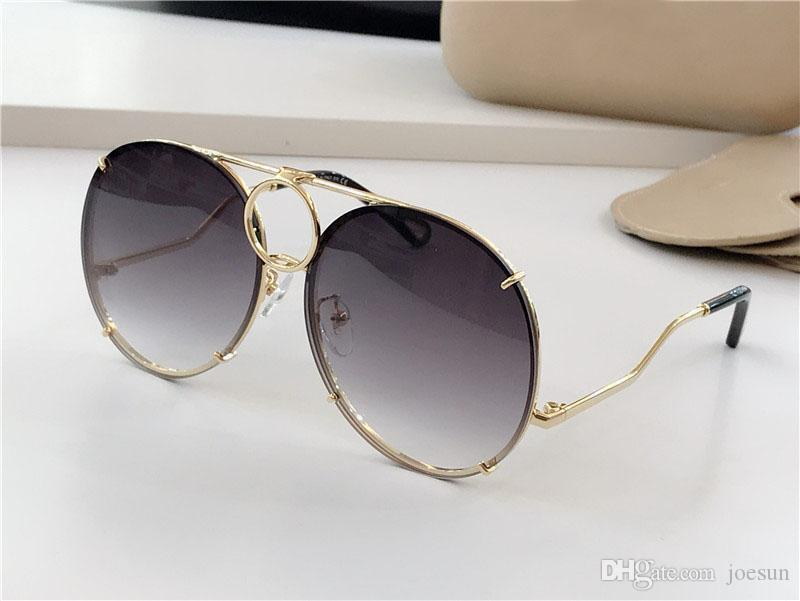 óculos de sol novos do desenhador de moda das mulheres 145 piloto estrutura metálica lentes intercambiáveis avant-garde estilo popular UV 400 glasse protectora