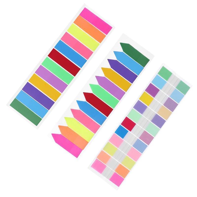 ملاحظات 12 اللون لزجة مؤشر مذكرة الوسادة التسمية ورقة إشارة مرجعية ملصقات اللوازم