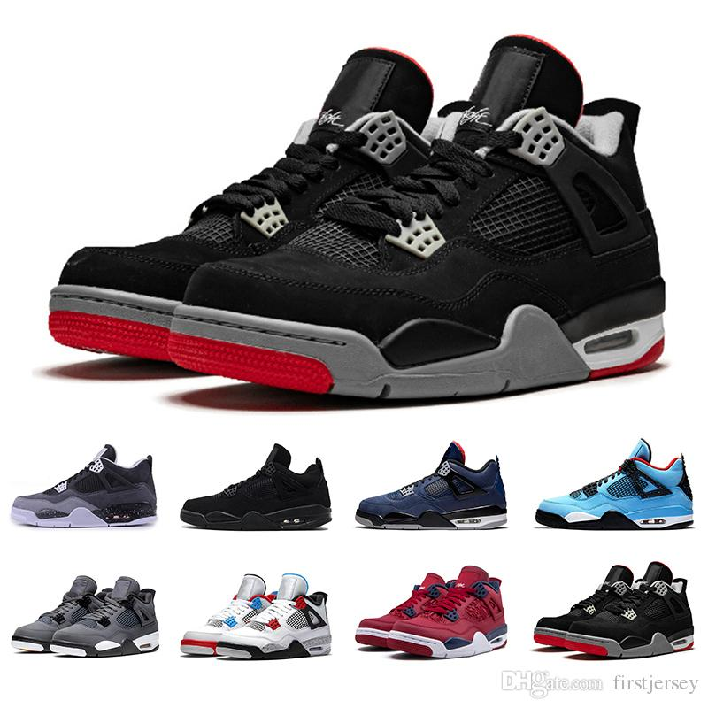 2020 Black Cement 4s Basketball Shoes 4