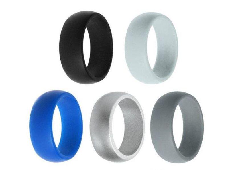 Unisex Men Women Wedding Ring Rubber Silicone Band Active Sport Gym Fashion New