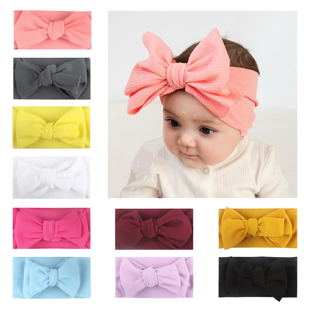 baby girl hair headbands accessories elastic yellow gold black bow