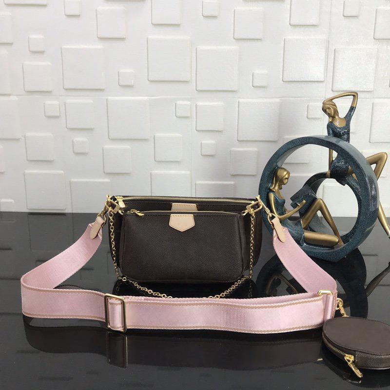 حقائب ماركة MULTI POCHETTE اكسسوارات 2020 أزياء المرأة الصغيرة حقيبة الكتف العلامة التجارية حقيبة سلسلة CROSSBODY مصمم حقائب اليد الفاخرة المحافظ جديدة