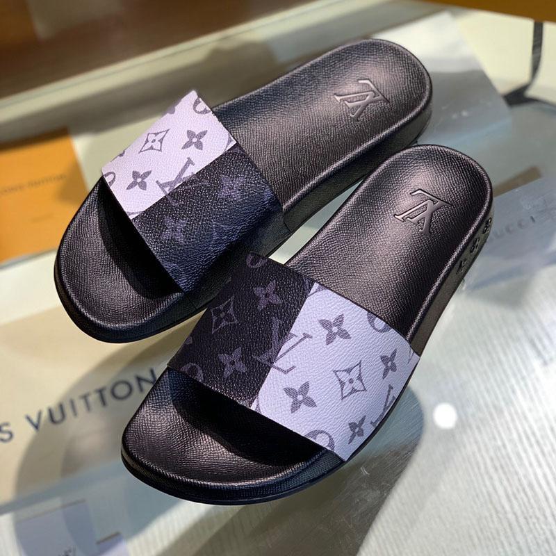 di lusso Flip flop moda scarpe da uomo superstar Stampato sandali di cuoio causali antiscivolo spiaggia d'estate pistone di uomini scarpe classiche con la scatola