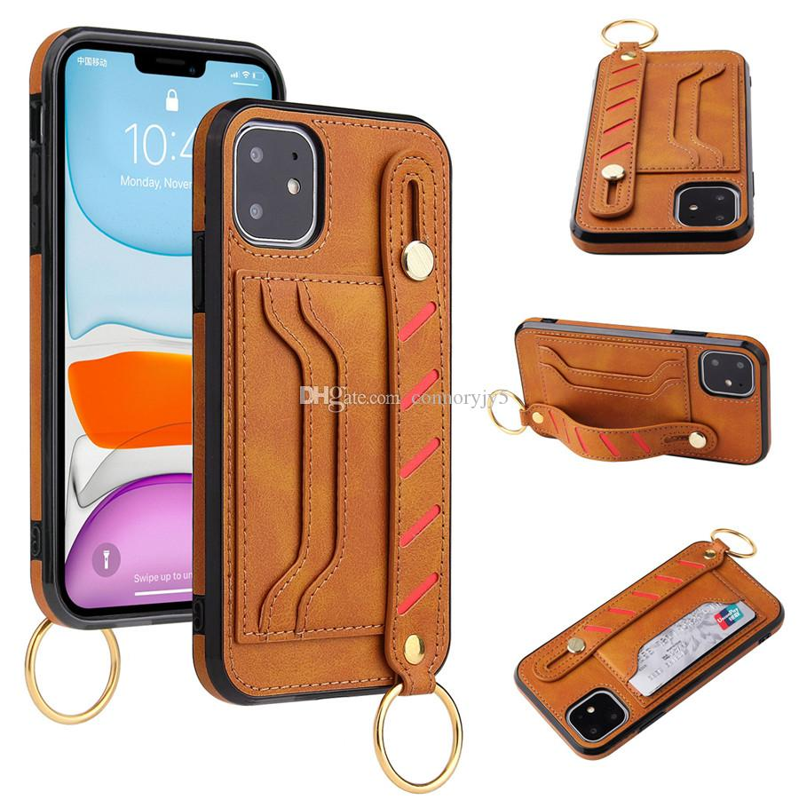 Phone Case for Huawei P30 mate30 pro iPhone 11 pro Max 6plus 7 7plus 8 8Plus Straps Phone Case Card Holder Cover