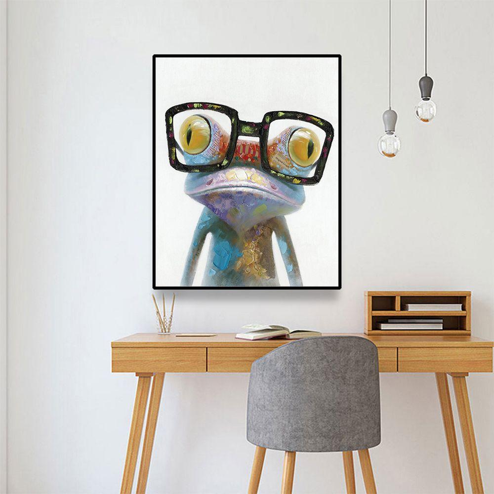 Laeacco rana gorila moderna lienzo de pintura de la caligrafía de los carteles y del Art Prints Pared de fotografías para la sala de estar decoración del hogar