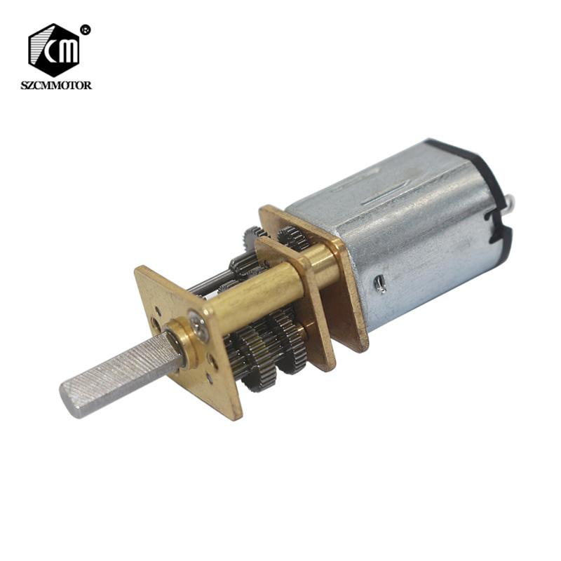 Whosale 10pcs N20 DC 3V 7.5RPM to 1500RPM Mini Metal Gear Motor with Gearwheel 3mm Shaft Diameter for Model Robot