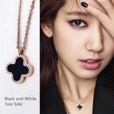 Simple Fashion Lucky Clover collier pendentif pour les femmes avec Clover Gold Charm chaîne Costume Drag Queen Bijoux 3 pcs