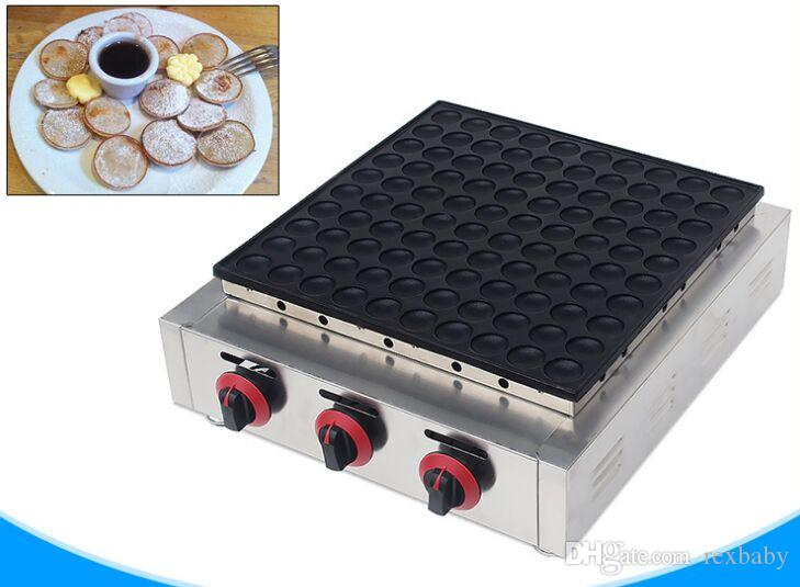 Gaz dorayaki makinesi gaz poffertjes ızgara macaron yapma makinesi ticari 100 delik krep kek waffle makinesi