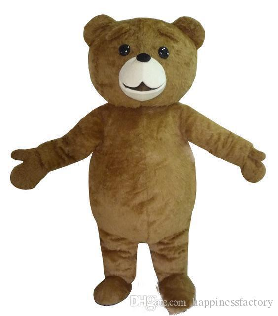 2019 Discount factory sale Ted Costume Teddy Bear Mascot Costume Free Shpping