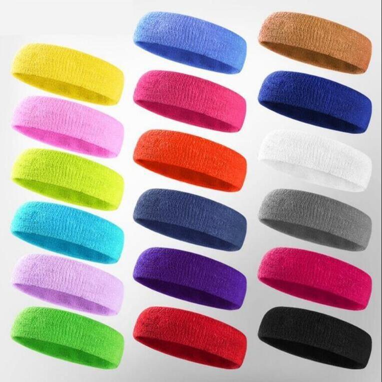 knit Headband Solid Colors Sport Running Cycling Sweatband men women Headscarf Headwear headband yoga fitness sweat head LJJA4001