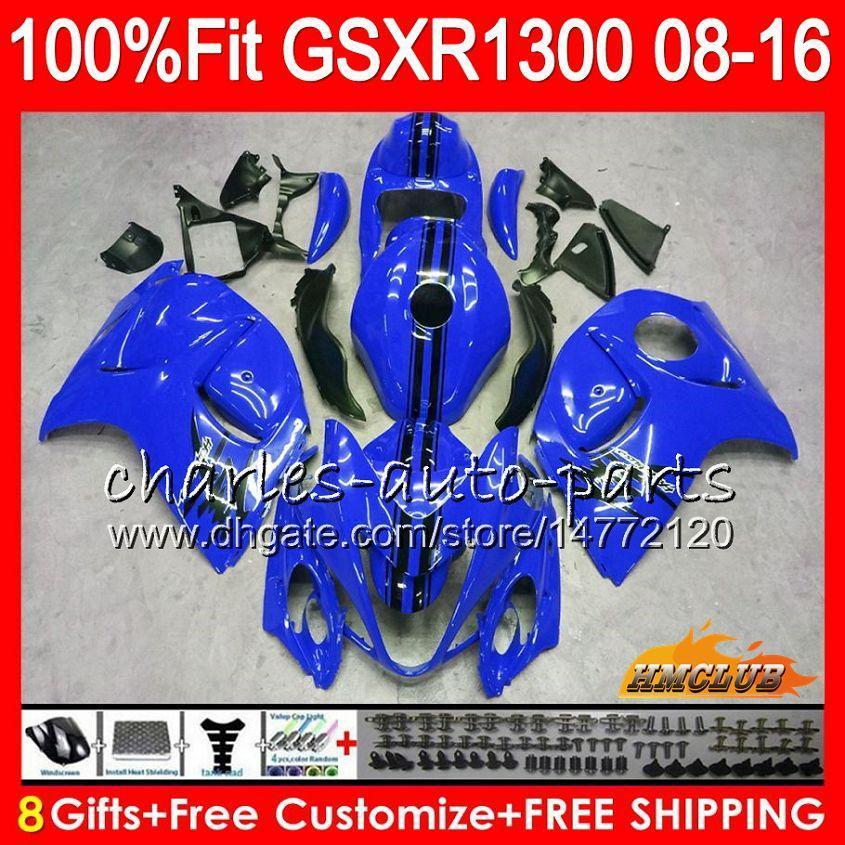 Injektion für Suzuki GSXR1300 GLOSSY BLUE HAYABUSA 08 09 10 2008 2009 2010 25HC.135 GSXR 1300 GSXR-1300 11 12 13 2011 2012 2011 2013 OEM-Verkleidung
