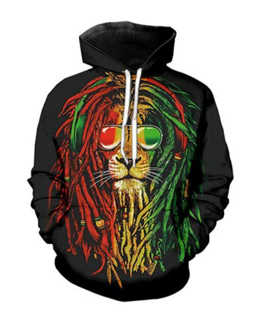 Mens Designer Hoodies für Frauen Männer Paare Sweatshirt Lovers 3d Bob Marley Hoodies Coats Hoodies Tees Kleidung RG0239