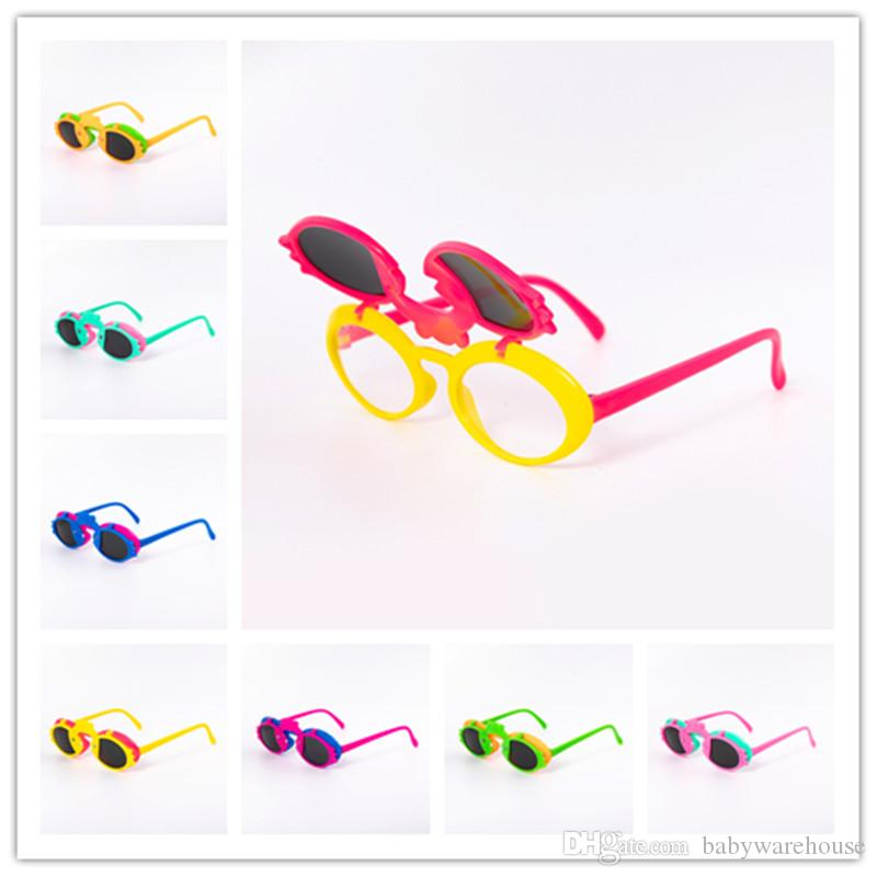 2020 New Baby Girls Sunglasses Children Cartoon Cute Flip Sun Glasses Eyewear Summer Toddler Kids Bird Glasses Boys Girls Student Sunglasses