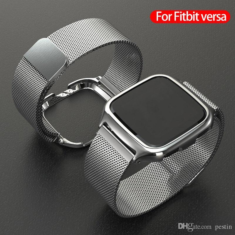Für Fitbit beobachten kehrt Band Milanis magnetische Metalledelstahlband Original Gehäuse-Design-Zink-Legierung Uhr