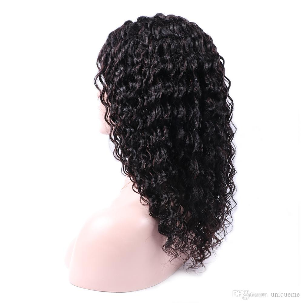 Brazilian Virgin Human Hair Wig Kinky Curly Lace Front Wigs Brazilian Hair Lace Front Wig Deep Kinky Curly Human Hair Cosplay Wig Black