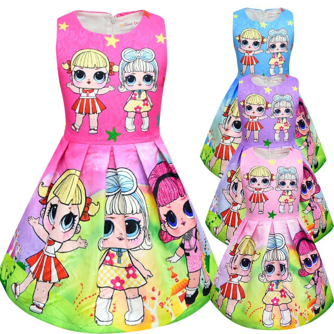 T shirt Short Skirt Set New Cartoon Girls Short sleeve Stage Suit Party Dress Summer Children's Wear Kids Outwear Top Girl's Clothing 8710