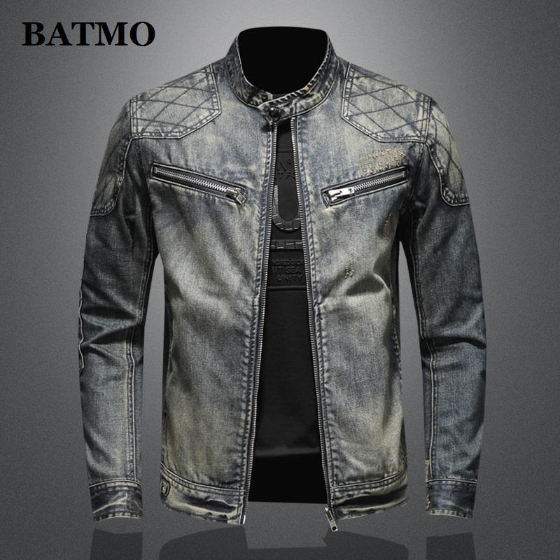 BATMO 2020 yeni varış kaliteli rahat kot ceketler erkek, erkekler rahat ceket, büyük beden M-5XL H0639