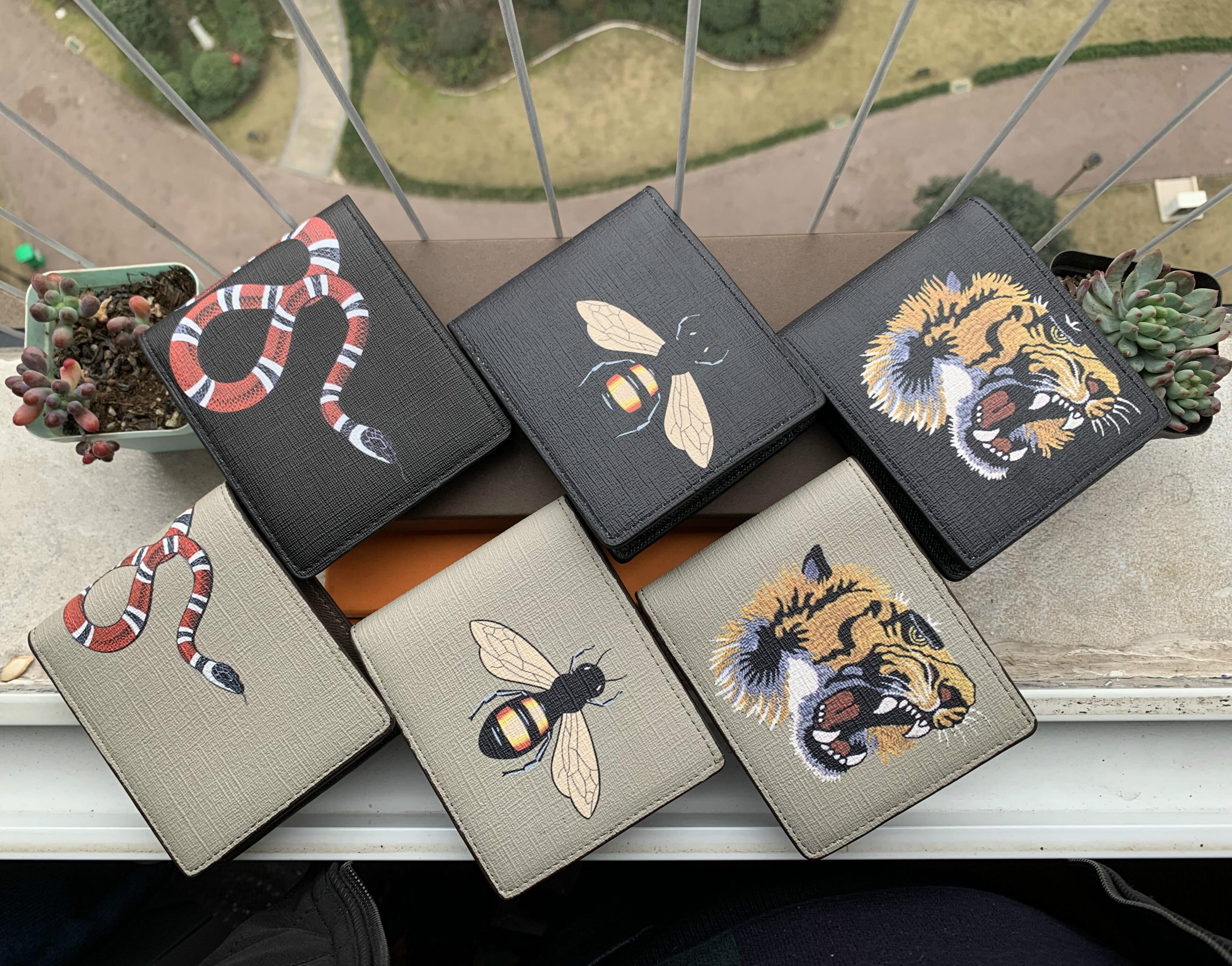 6 colori Parigi plaid il progettista del mens di stile del raccoglitore famosi uomini di lusso portafogli in pelle speciale multipla piccolo portafoglio breve bifold con box