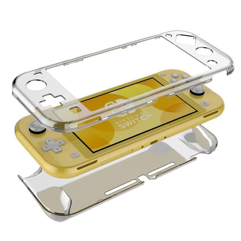 Прозрачный PC Силиконовый Чехол Защитная Крышка Оболочка Прозрачная Полное тело Протектор для NS Switch Lite Миними Игровой Консоль Accesso